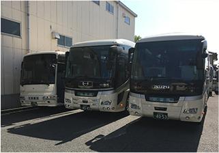 バス会社観光バス